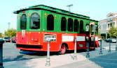 Trolley car transports Calabasans