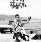 A CHAMPION--The checkered flag went to Marshall Cole in the Water Ski Racing Junior World Championships last month.