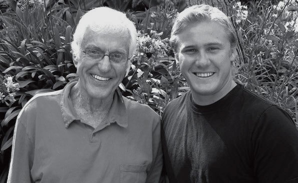JANET LAIRD/Special to The Acorn GOOD GENES- Wesley Van  Dyke  of  Agoura  Hills,  with  his grandfather,  the  famed  comedian  Dick Van  Dyke,  will  be  the featured artist at the Malibu Arts Festival on July 26 and 27.