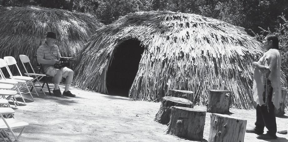 HOME SWEET HOME—The new village has several traditional Chumash dwellings.