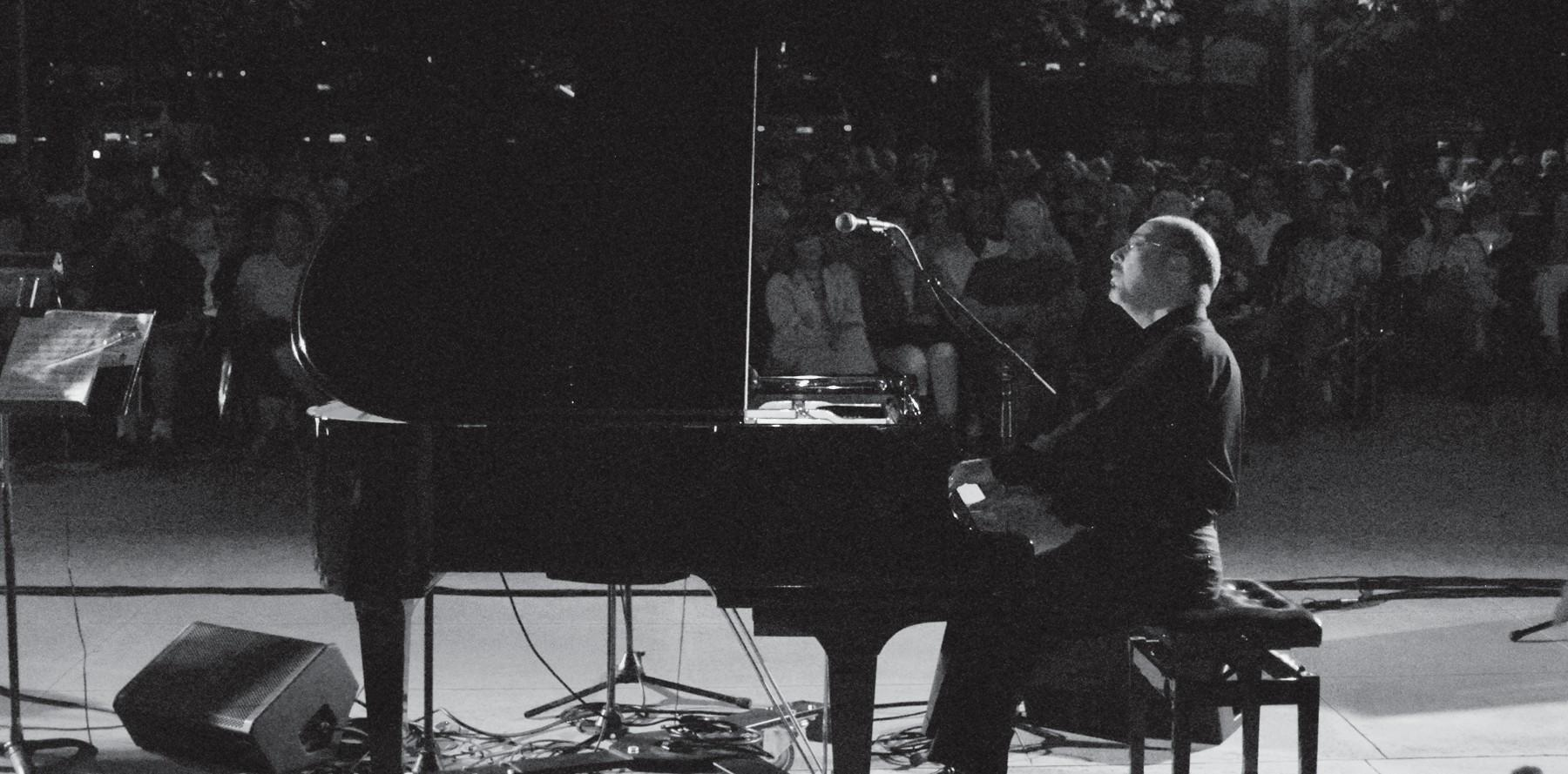 "TICKLING IVORIES—Pianist Norman Krieger plays at the Westlake Village Civic Center on Fri., Aug. 31 as part of the Westlake Village TGIF series. The evening'S program titled ""An American Panorama"" was presented by The City of Westlake Village and the New West Symphony."