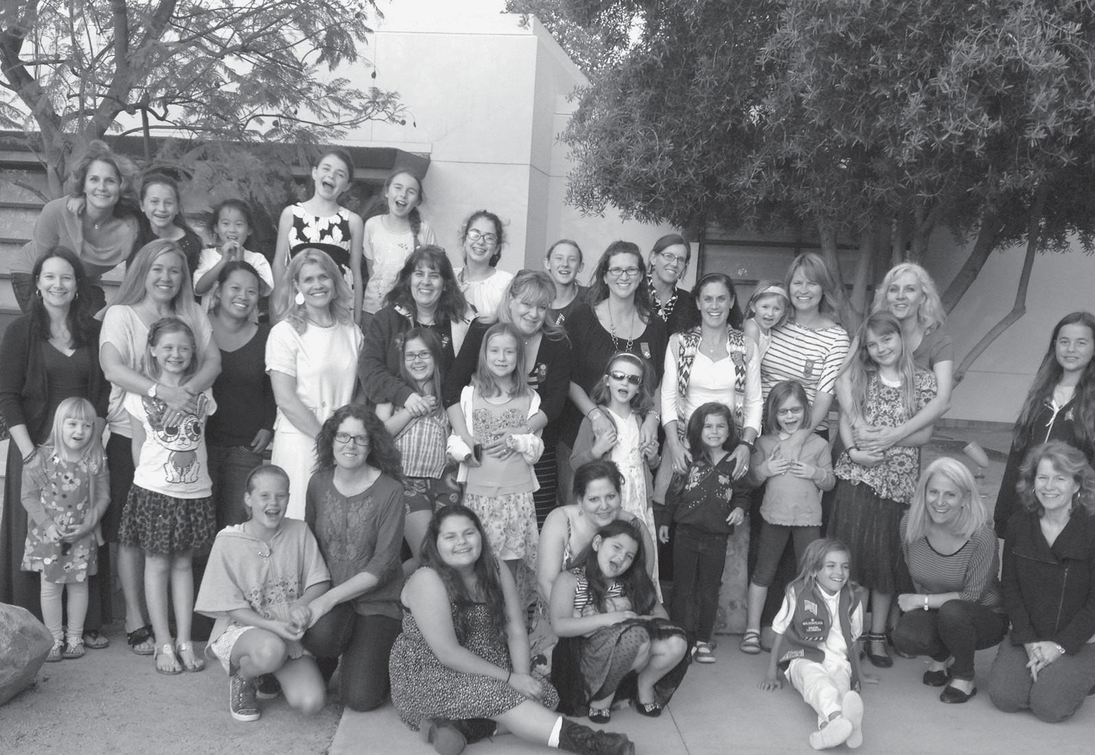 GIRLS' DAY OUT—Girl Scouts celebrate Mother's Day with a leader/daughter twilight tea at the Westlake Village Civic Center. The Girl Scouts of Greater Los Angeles Las Virgenes Service Unit, which welcomes girls from Agoura Hills and Westlake Village in grades K through 12, will host membership recruitment night at 5:30 to 7:30 p.m. on May 28 at the Westlake Village Community Room, next to the library. The group is also seeking volunteers for the program. For more information, contact Susy Gomez at SGomez@girlscoutsla.org.