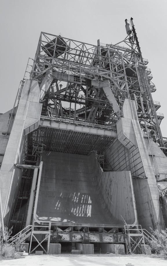 SLICE OF HISTORY?—The Coca test stand supported the Apollo space program in the 1960s.